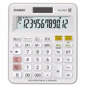 CASIO MJ-120W-N 計算チェック機能付き電卓 12桁