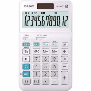 CASIO JW-200TC-N W税率電卓 12桁 ジャストタイプ