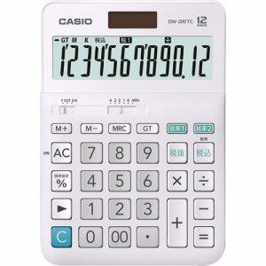 CASIO DW-200TC-N W税率電卓 12桁 デスクタイプ