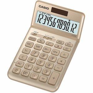 CASIO JF-S200-GD-N デザイン電卓 12桁 ジャストタイプ ゴールド