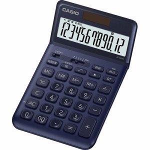 CASIO JF-S200-NY-N デザイン電卓 12桁 ジャストタイプ ネイビー