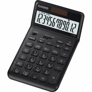 CASIO JF-S200-BK-N デザイン電卓 12桁 ジャストタイプ ブラック