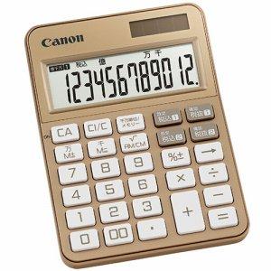 CANON 2307C003 カラフル電卓 ミニ卓上 KS-125WUC-GD 12桁 ゴールド