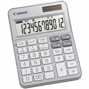 CANON 2307C002 カラフル電卓 ミニ卓上 KS-125WUC-SL 12桁 シルバー