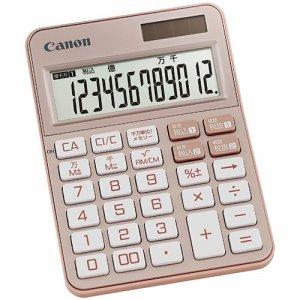 CANON 2307C004 カラフル電卓 ミニ卓上 KS-125WUC-PK 12桁 ピンク