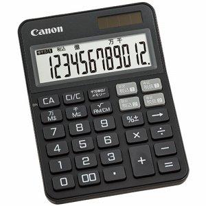 CANON 2307C001 カラフル電卓 ミニ卓上 KS-125WUC-BK 12桁 ブラック