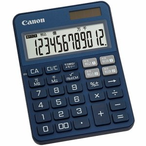 CANON 2307C005 カラフル電卓 ミニ卓上 KS-125WUC-BL 12桁 ブルー