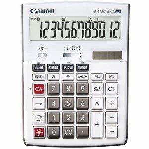 CANON 3896C001 卓上電卓 HS-1250WUC 12桁