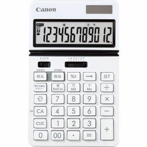 CANON 0932C002 ビジネス電卓 KS-1220TU-WH フリーアングルチルト&大画面液晶 12桁 卓上タイプ ホワイト
