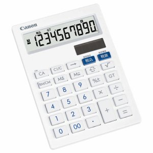 CANON 3441B001 抗菌キレイ電卓 LS-101T SOB 10桁 中型卓上タイプ ホワイト
