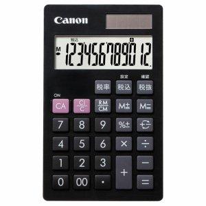 CANON 7427B001 電卓 LS-12T 12桁 手帳サイズ ブラック