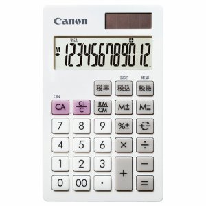 CANON 7427B002 電卓 LS-12T 12桁 手帳サイズ ホワイト