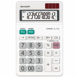 SHARP EL-772J-X エルシーメイト電卓 12桁 ミニナイスサイズ
