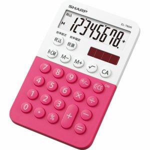 SHARP EL-760R-PX カラー・デザイン電卓 8桁 ミニミニナイスサイズ ピンク系