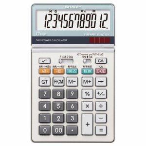 SHARP EL-N732K-X 実務電卓 12桁 ナイスサイズ