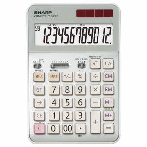 SHARP CS-S952C-X 実務電卓 12桁 セミデスクタイプ