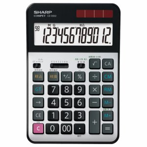 SHARP CS-S952-X 実務電卓 12桁 セミデスクタイプ