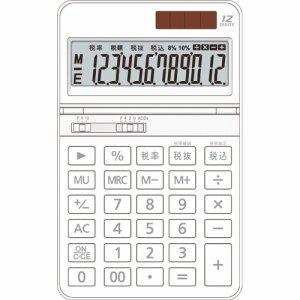 AURORA DT700TXW 中型電卓 12桁 卓上タイプ ホワイト