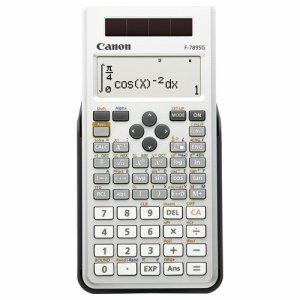 CANON 6952B001 関数電卓 F-789SG-SL SOB 10桁 教科書ビュー 445関数 19メモリ ホワイト