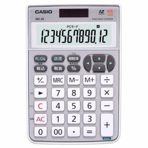 CASIO MZ-20-SR-N テンキー電卓 12桁 ミニナイスサイズ