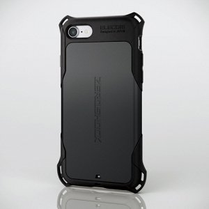 ELECOM PM-A17MZEROBK IPHONE8 /7用ZEROSHOCKケース スタンダード 液晶保護フィルム付 ブラック