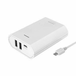 多摩電子工業 TL82SAW モバイルバッテリー 7800MAH USB×2 ホワイト