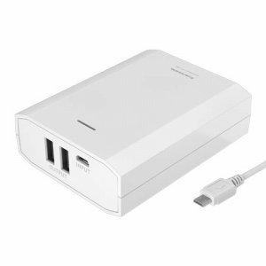 多摩電子工業 TL80SAW モバイルバッテリー 10400MAH USB×2 ホワイト