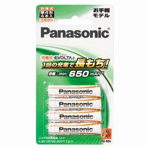 PANASONIC BK-4LLB/4B ニッケル水素電池 充電式EVOLTAE お手軽モデル 単4形