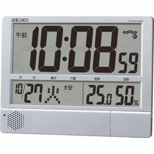 セイコークロック SQ434S プログラム電波時計 温湿度表示付 掛置兼用