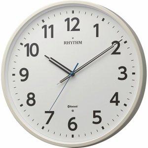 リズム時計 8MYA41SR03 BLUETOOTH搭載クロック シェアウェーブM41 白