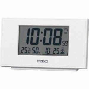 セイコークロック SQ790W デジタル目ざまし電波時計 ホワイト
