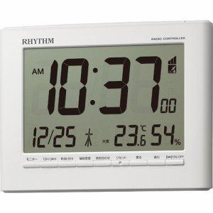 リズム時計 8RZ203SR03 掛置電波時計 フィットウェーブD203 白