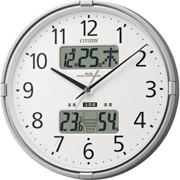シチズン 4FY618-019 環境目安表示付電波掛時計