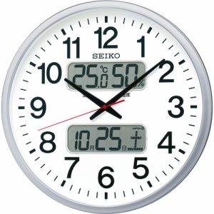 セイコークロック KX237S 電波掛時計 オフィスタイプ カレンダー・温度湿度表示付