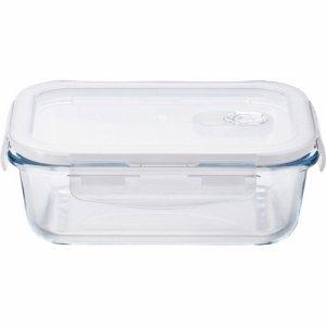 石塚硝子 H-8764 ガラス保存容器 COOK-LOCK レクタングル 600ml