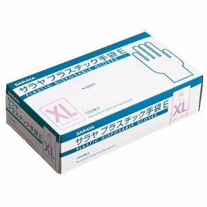サラヤ 53517 プラスチック手袋E 粉無