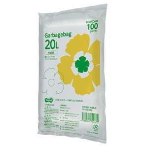 TG100-20N ゴミ袋エコノミー 半透明 20L 汎用品