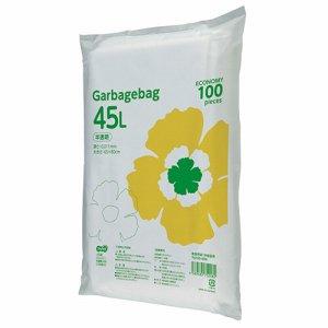 TG100-45N ゴミ袋エコノミー 半透明 45L 1セット1000枚 汎用品
