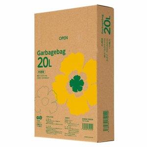 TG110-20N ゴミ袋エコノミー 半透明 20L BOXタイプ 20箱セット 汎用品
