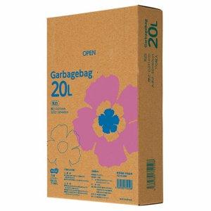 TG110-20W ゴミ袋エコノミー 乳白半透明 20L BOXタイプ 20箱セット 汎用品