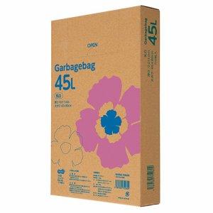 TG110-45W ゴミ袋エコノミー 乳白半透明 45L BOXタイプ 汎用品