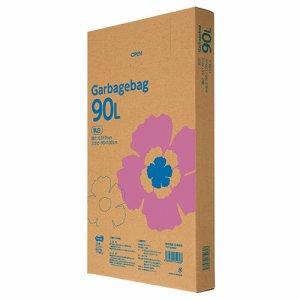 TG110-90W ゴミ袋エコノミー 乳白半透明 90L BOXタイプ 汎用品