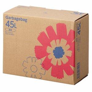 J45LDT ゴミ袋 コンパクト 透明 45L BOXタイプ 汎用品