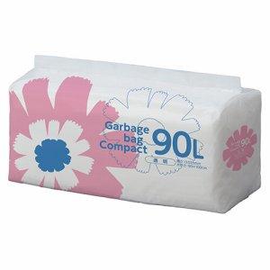 S90LDT ゴミ袋 コンパクト 透明 90L 汎用品