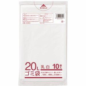 クラフトマン HK-099 業務用乳白半透明 メタロセン配合厚手ゴミ袋 20L
