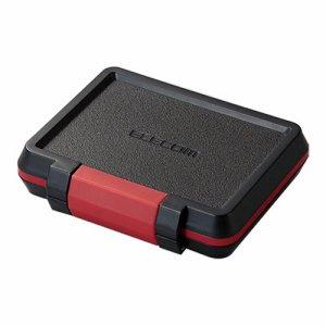 ELECOM CMC-SDCHD01BK SD /MICROSDカードケース 耐衝撃 ブラック