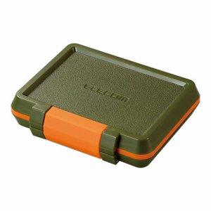 ELECOM CMC-SDCHD01GN SD /MICROSDカードケース 耐衝撃 カーキ