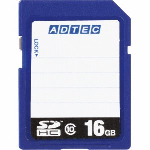アドテック AD-SDTH16G/10R SDHCメモリカード 16GB CLASS10 インデックスタイプ