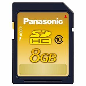 PANASONIC RP-SDWA08GJK SDHCメモリーカード 8GB CLASS10