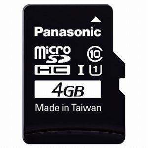 PANASONIC RP-SMGA04GJK MICROSDHC UHS-Iカード 4GB CLASS10